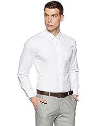 Louis Philippe Men's Solid Slim Fit Cotton Formal Shirt