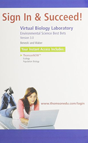 Virtual Biology Laboratory, 3rd Ed and Environmental Science Best Bets: Population Biology and Ecology Virtual Biology Lab in Cengagenow Printed Access Card