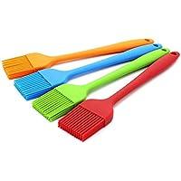 HelpCuisine Pinceles de cocina,hecho de silicona de alta calidad,ideal para parrilla, barbacoa, confitería etc.Set compuesto por cuatro pinceles