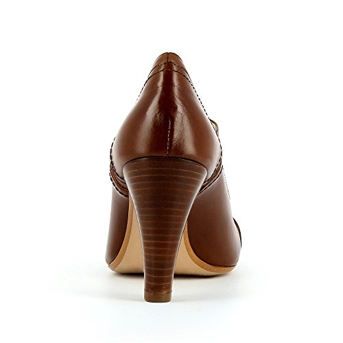 Maria donna scarpe stringate Pelle liscia cognac