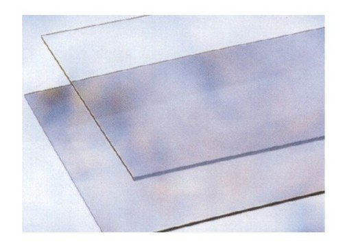 Glas Kunststoff transparent in Schichten Maurer 500x 1250mm Dicke 4mm