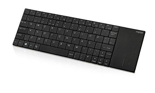 Rapoo E2710, kabellose Nano-USB Tastatur, mit integriertem Touchpad, schwarz - Wireless Tastatur Mit Touchpad