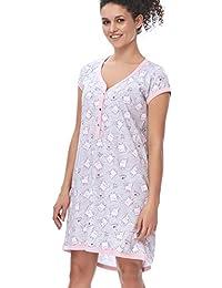 Dn-Nightwear TM.5038 Hermoso Camisón Maternal A Topos - Hecho En ...