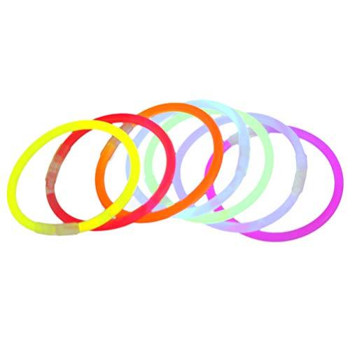 OSALADI 100 Stücke Knicklichter Circlet Light Sticks Requisiten für Party Konzert Dekoration mit Stecker - 20x0,5 cm (Zufällige Farbe)