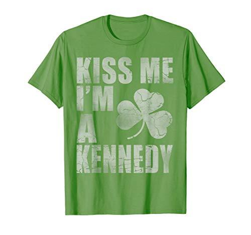 Kiss Me I'm A Kennedy Family Heritage Irish St Patricks Day T-Shirt -