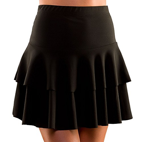 Adult Funky Festival 80's Black Ra Ra Skirt M/L Fancy Dress Accessory