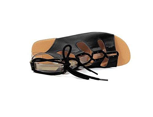 Beauqueen Pompe delle donne dei sandali primavera e l'estate piatto Hollow Lace sandali femminili pattini casuali speciale Size Dimensione Europa 32-43 Yellow