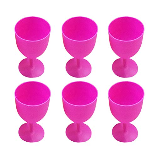 TOYANDONA 12pcs ABS Margarita Glasses Cups Cocktail Cups Colored Goblet Wavy Pattern Cups Juice Cocktail Cups for Carnivals Festivals Wedding Birthdays Party Favors (Random Color) Margarita-goblet