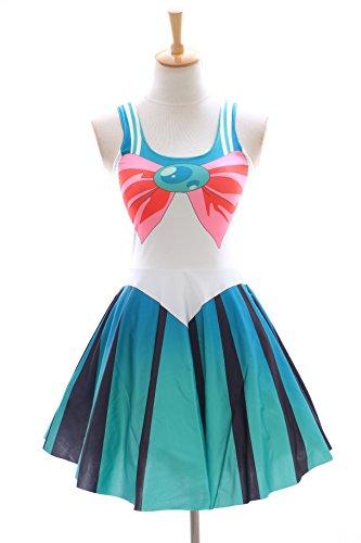 Moon Jupiter grün Kleid dress Cosplay Manga Japan Anime (Sailor Jupiter Kostüme)