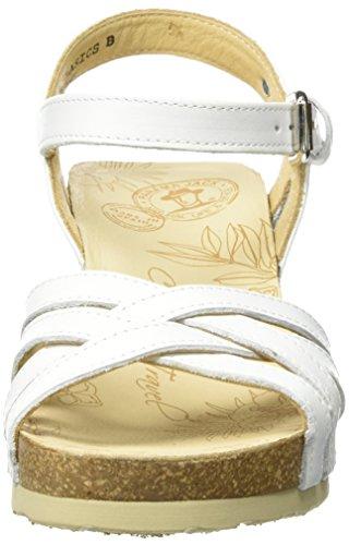 Panama Jack Vera Basics, Sandales Bout Ouvert Femme Blanc (White)