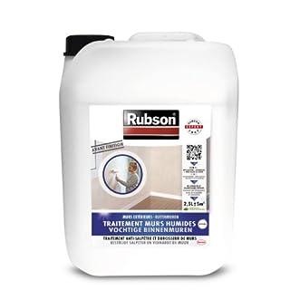 RUBSON 1800290 Stop Salpêtre Murs Intérieurs Incolore Bidon plastique 2.5L