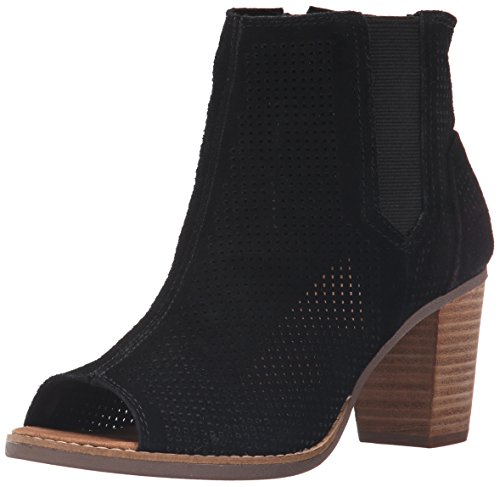 9a1a127a09260e TOMS TOMSMajorca Cutout Leather Sandali Nero Denim Maiorca 10009809 Donna