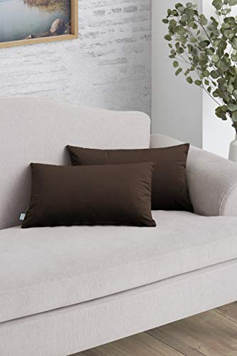 Easycosy - Pack Funda de Cojín Decorativo Luxury para Sofá - 30x50 - Tejido Terciopelo -...