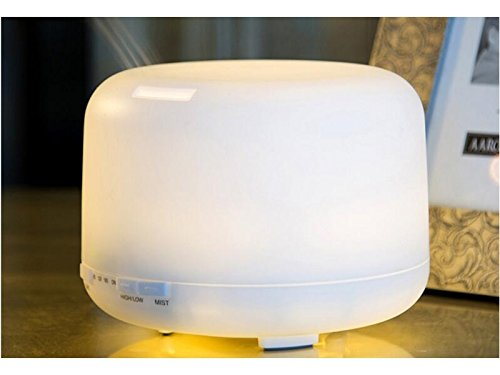 QILEGN Aroma Diffusor 300 ML Ultraschall Aromatherapie Ätherisches Öl Diffusoren Farbwechsel Lampe Aroma Lampe für Home Office Spa LED Lampen (Ultraschall-öl Diffusoren)