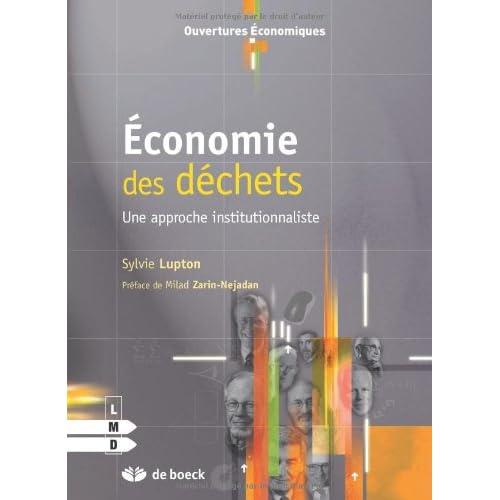 Lupton - Economie des Déchets une Approche Institutionnaliste