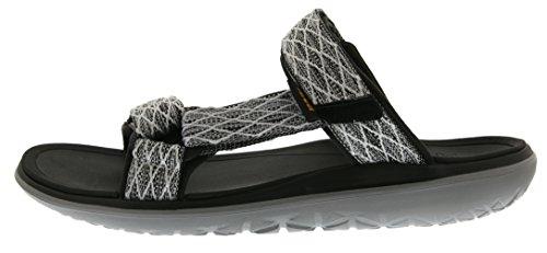 Teva - Terra-float Slide M's, Sandali Uomo Argento (Silber (Charcoal Black 485))