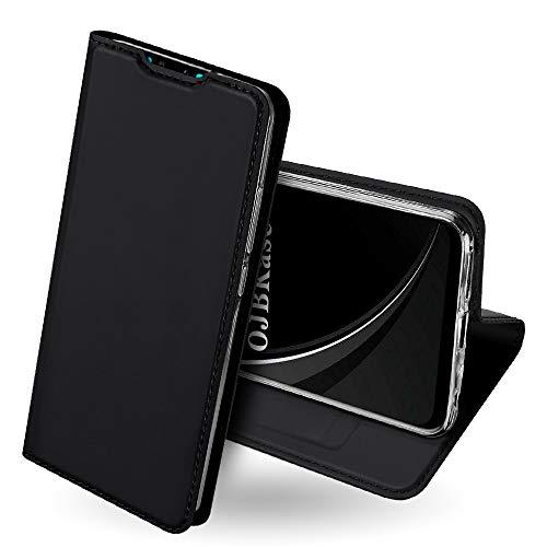 Funda para Samsung Galaxy A6 plus Flip Folio Cover,Soporte Plegable Ultra-Delgado Carcasa para Samsung Galaxy A6+ Azul Magn/ético 2 Ranuras para Tarjetas cat and fish