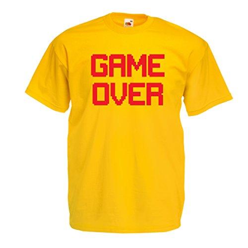 Männer T-Shirt Spiel über lustige Gamergeschenke (Small Gelb (Hobbit Frau Kostüm)