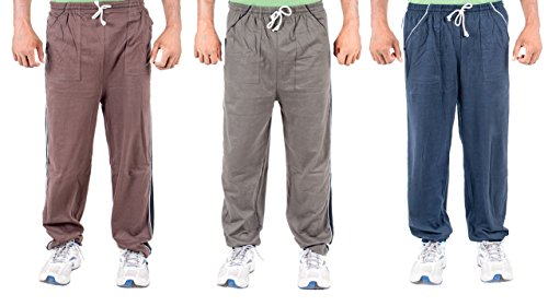 Funky Guys Men's Cotton Track Pant (PAck of 3) (TRACKPANT_C3_GRNBBR_40_Multi_Medium)