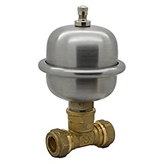 Stop Noisy Pipes for Baths Taps Basins Toilets Prevent Water Hammer Banging pipes Arrester Water Shock Preventer Thumping Pipes 2 x 15mm Compression Tee Easy Fit