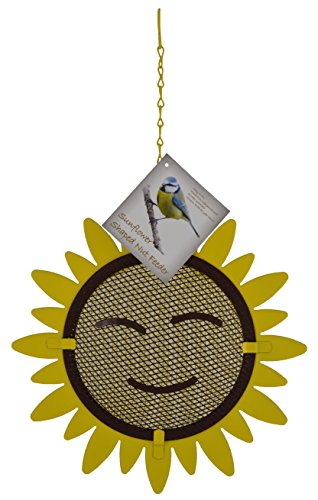 Green Jem BF-Smiley-N Vogelfutterstation in Sonnenblumenform, Natur, 23,5 x 6 x 23,5 cm