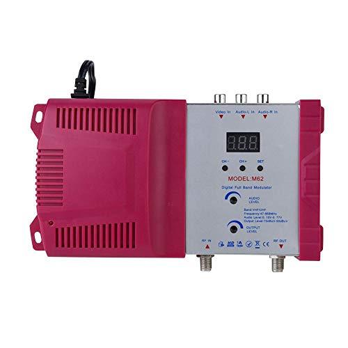 Eboxer Modulatore da AV a RF, Convertitore da AV a RF digitale regolabile Supporta VHF/UHF compatibile con tutti i sistemi CATV locali(EU)