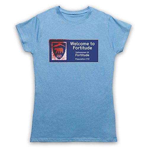 Inspiriert durch Fortitude Welcome Sign Inoffiziell Damen T-Shirt Hellblau