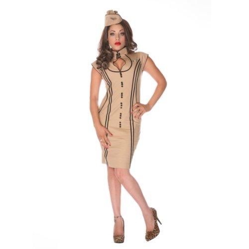 Voodoo Vixen Kleid DRA2131 beige XL