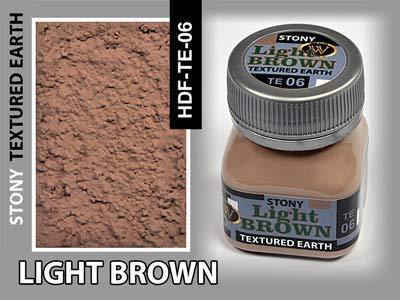 Wilder Light Brown Stony - Pintura texturizada (50 ml), color marrón