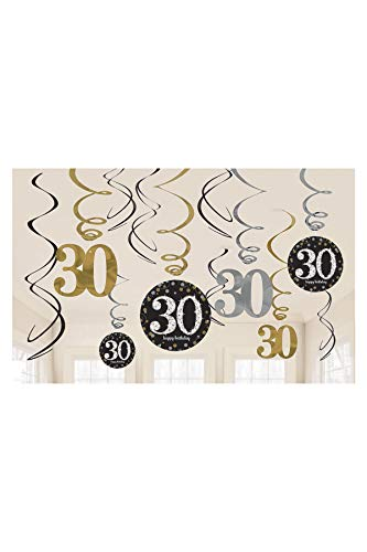 Celebration 30. Swirl Dekoration Value Pack ()