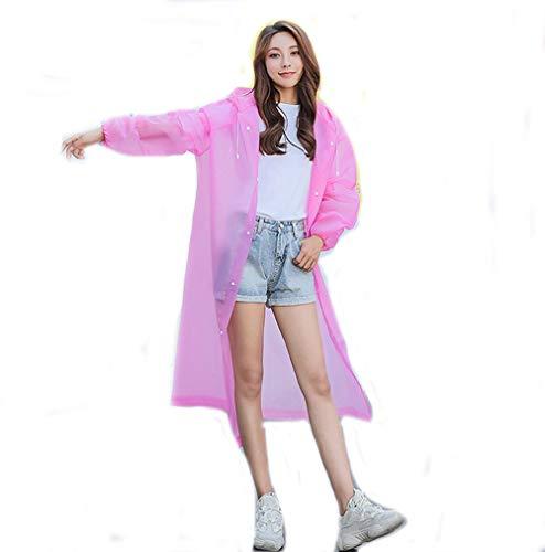 YUEMING EVA Portable Raincoat,Adult Ponchos Kids Ponchos,Reusable Rain Poncho with Hoods and Sleeves,Environmentally Friendly,Light