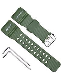 OliBoPo, cinturino di ricambio in resina naturale per orologio Casio da uomo G-Shock Master of G Mudmaster con doppio sensore sportivo GG-1000/GWG-100/GSG-100 Lyndee