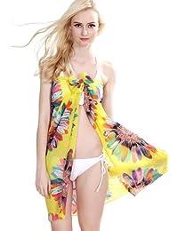 Sarong Paréo en Mousseline Motif Imprimé Soleil Plage Robe Jupe Bikini Paréo