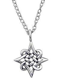 adbe175e4dc6 So Chic Joyas© collar cadena nudo Celta estrella polar plata 925