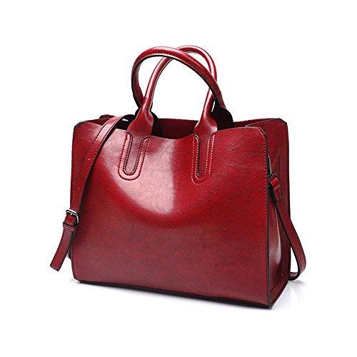 Frauen Handtasche 8-Farben-Mode Handtaschen Retro-Tasche Tasche wilde Schulter Messenger Tasche einfache Öl Wachs Leder Tasche 1