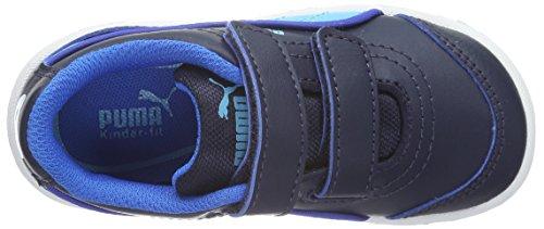 Puma Stepfleex Fs Sl V, Baskets Basses Mixte Enfant Bleu - Blau (peacoat-blue Atoll 17)