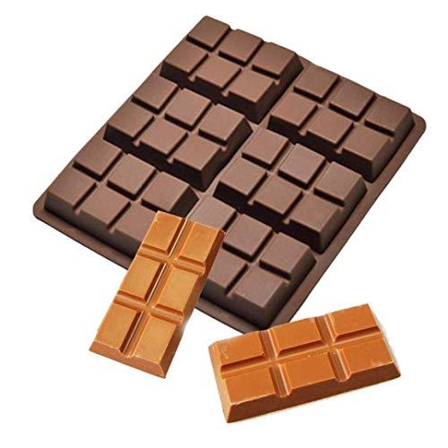 WOZUIMEI Schokoladenform 6-Zelliger Mittelgroßer Schokoladenriegel Süßigkeitenform Professionelle Silikonform, Kaffee (Professionelle Silikonform)