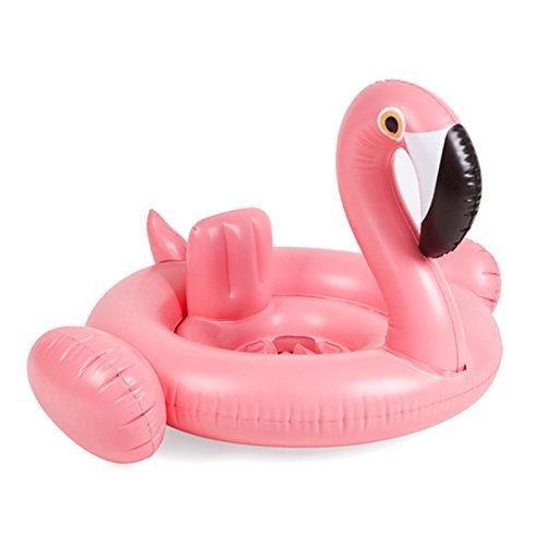 Divine Shield Schwimmring für Baby Schwimmsitz Flamingo Schwan Aufblasbares Pool Wasserspielzeug Sommer Spaß für Kinder 6-36 Monate (Flamingo)