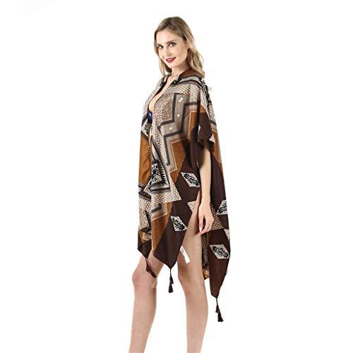 QIMANZI Strand Handtuch Damen Twill Baumwolle Sommer Badebekleidung Kimono Strickjacke Beiläufig Lose Öffnen Schal(F) -