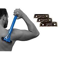 BaKblade Shaver Blade Set, Refills for BaKblade 1.0 Back Shaver, Precision Shave, Pack of 3