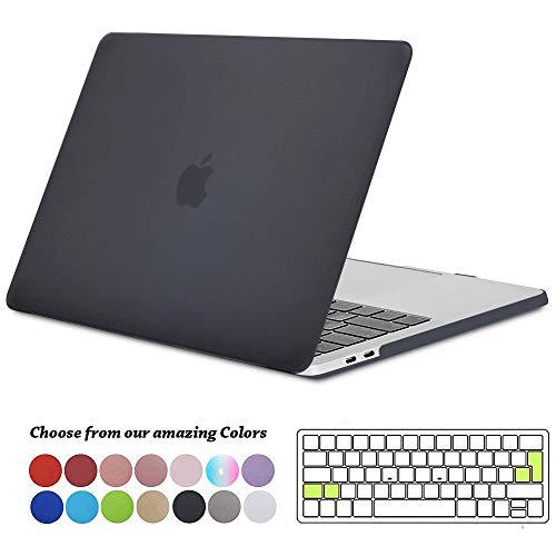 TECOOL Coque MacBook Pro 13 Pouces 2016 2017 2018 2019, Plastique Rigide Étui + Clavier Coque de Protection pour MacBook Pro 13 avec/sans Touch Bar Modèle: A2159/ A1706/ A1708/ A1989, Noir Clair
