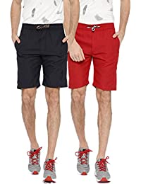Sports 52 Wear Men's Polyester Pack of Two Basic Shorts
