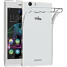Wiko Ridge 4G Funda, iVoler TPU Silicona Case Cover Dura Parachoques Carcasa Funda Bumper para Wiko Ridge 4G, [Ultra-delgado] [Shock-Absorción] [Anti-Arañazos] [Transparente]- Garantía Incondicional de 18 Meses