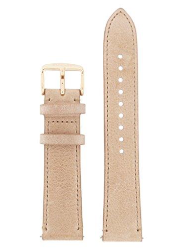 Fossil Uhrband Wechselarmband LB-AM4532 Original Ersatzband AM 4532 Uhrenarmband Leder 20 mm Beige (20 Mm Fossil Leder Uhr Band)