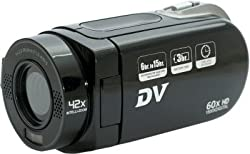 Kushagra High Definition H.264 DV HD Videocam-HD90 Body with 2.4 TFT LCD & 96.6mm Camcorder Camera