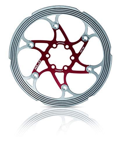 XLC Unisex- Erwachsene Bremsscheibe BR-X59 CNC Reibring, Rot, Silber, Ø180 Mm -