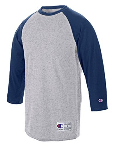 champion-t-shirt-homme-gris-gris-multicolore-oxford-gray-navy