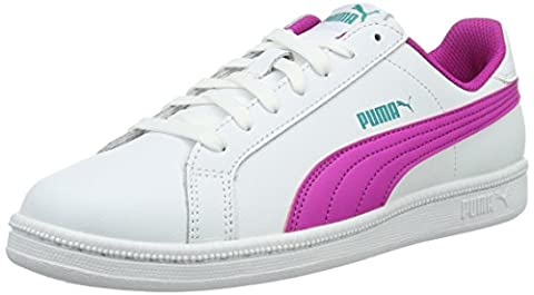 Puma Unisex-Kinder Smash Fun L Jr Sneakers, Weiß (Puma White-Ultra Magenta 11), 36 EU