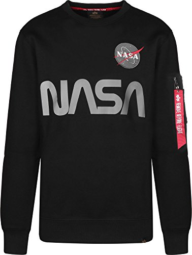 Alpha Industries Sweater NASA Reflective, Größe:M, Farbe:black