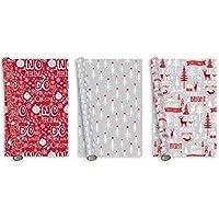 Rollo de papel de regalo de Navidad mezcla diseños